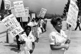 County-USC Medical Center nurses demonstrate