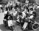 Disabled persons rally against health care cuts