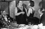 Norma Shearer presenting Marie Dressler with Oscar