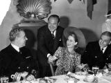 Norma Shearer with naval officers