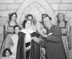 Shirley Temple at Disneyland's Sleeping Beauty Castle