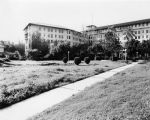 Ambassador Hotel and gardens, facing southwest