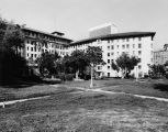 Ambassador Hotel and gardens, facing northwest