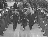 Madame Chiang Kai-shek and Mayor Bowron arrive at City Hall