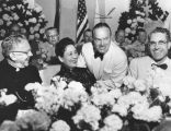 Madame Chiang Kai-Shek enjoys Bob Hope's quips at Bar Association dinner