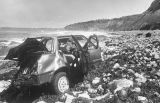 Victim's car on beach