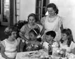 Harold Lloyd's children at party