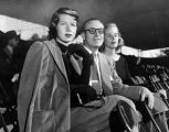 Harold Lloyd with daughters at tennis match