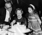 Harold Lloyd with wife and granddaughter
