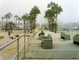 Fog and the homeless on Venice Beach