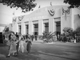 Exhibition building at the Los Angeles County Fair