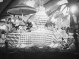 Agricultural exhibition in the Flower and Garden Pavilion at the Los Angeles County Fair
