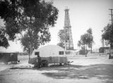 Camping by an oil well