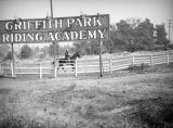 Sign at the Griffith Park Riding Academy