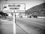 Mulholland Highway directional sign