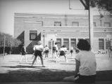 Students play volleyball at John Marshall High School