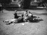 Students on lawn at U.S.C.