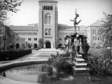 Youth Triumphant fountain in front of Bovard Auditorium at U.S.C.