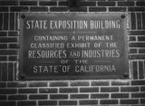 State Exposition Building plaque