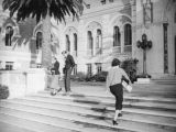 Doheny Library steps at U.S.C.