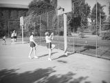 Playing basketball at Los Angeles Junior College