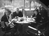 Ethel Schultheis and parents at the Palms Grill