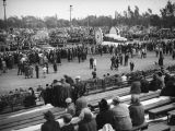 Float viewing area after the 1938 Rose Parade