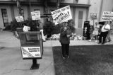 Picketing outside Encino Community Center