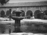 Brand Park fountain and San Fernando Mission Convento