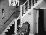 Schultheis' living room stairway