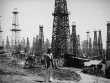 Herman Schultheis in the Signal Hill oil field