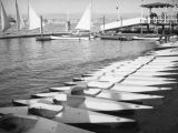 Rental boats and kayaks at Balboa Beach