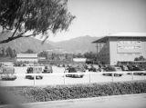 Parking by the grandstand at Santa Anita Racetrack