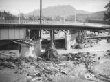 L.A. River flooding, North Hollywood bridge structural damage