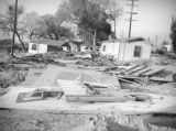 San Bernardino flood damage, pile of rubble