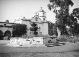 Convento, church and fountain, Mission San Luis Rey, Oceanside