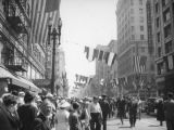 President Roosevelt's motorcade, Broadway and Fifth