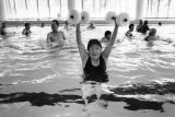 Jung Shim exercising at Downtown Ketchum YMCA