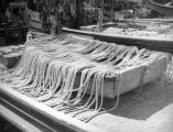 Rope drying on a rowboat at Terminal Island