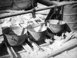 Cooking pots at Terminal Island