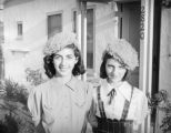Schultheis' neighbors in knit hats