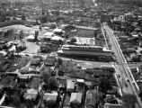 Aerial view of Shaffer Tool Works, Brea