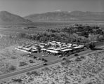 Racquet Club of Palm Springs, looking northwest, Indian Canyon Drive