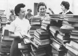 Burbank stacks up books for Koreans