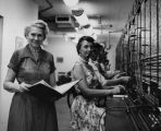 Telephone switchboard and operators at Lockheed Aircraft