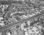 Santa Monica Boulevard and Ramada Drive, West Hollywood, looking northeast