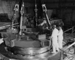 Installation of 75-ton shield for Sodium Reactor Experiment reactor