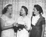Jessica Tandy receiving honorary membership to Zeta Phi Eta