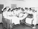 Nursing students at Northridge Hospital