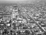 Aerial view of Hollywood, looking west